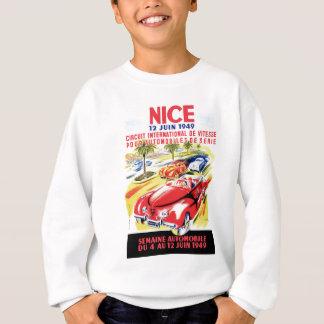 Sweatshirt Affiche de course d'automobile de circuit de 1949