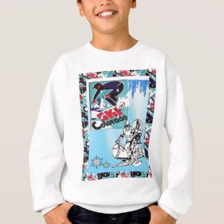 Sweatshirt Affiche vintage de ski, ski le Colorado
