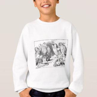 Sweatshirt Alice, souris et oiseaux