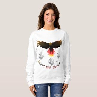 Sweatshirt allemand de dames d'Eagle du football