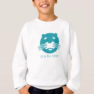 Sweatshirt Alphabet d'animal de loutre