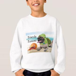Sweatshirt Amis pour toujours : Crabe + Carlin de tortue