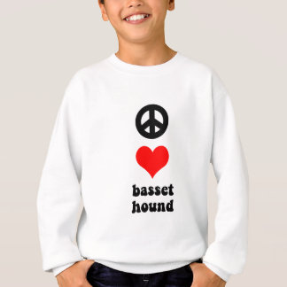 Sweatshirt Amour Basset Hound de paix