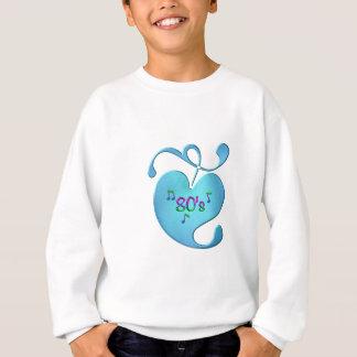 Sweatshirt amour de la musique 80s