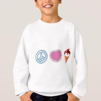 Sweatshirt Amour de paix et crème glacée