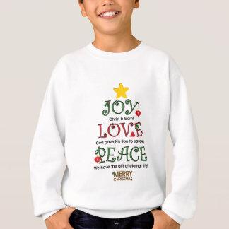 Sweatshirt Amour et paix chrétiens de joie de Noël