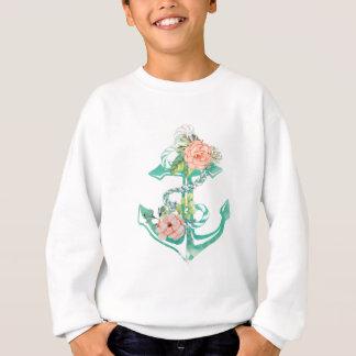 Sweatshirt Ancre et roses