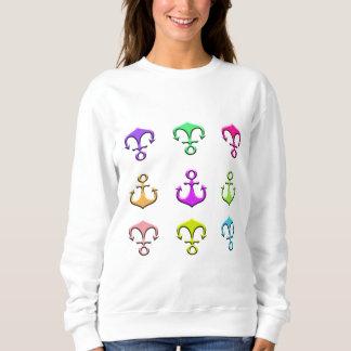 Sweatshirt ancres de couleurs