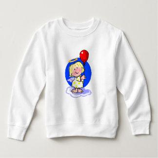 Sweatshirt Ange mignon et ballon rouge