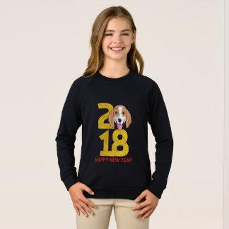 Sweatshirt Année de beagle de la chemise de nouvelle année du