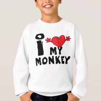 """Sweatshirt Année du singe """"j'aime mon singe """""""