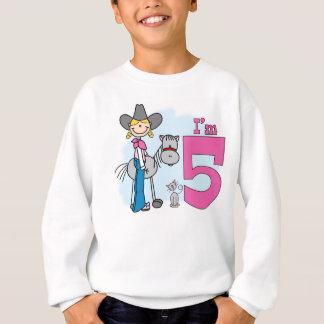 Sweatshirt Anniversaire de cow-girl de bâton 5ème