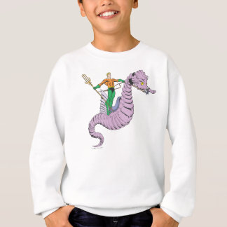 Sweatshirt Aquaman monte l'hippocampe