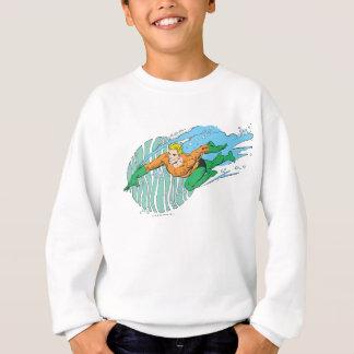 Sweatshirt Aquaman saute à gauche