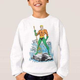 Sweatshirt Aquaman se tient avec la fourche