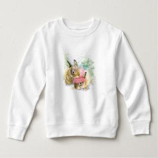 Sweatshirt Aquarelle de Noël | - lapins de forêt d'hiver