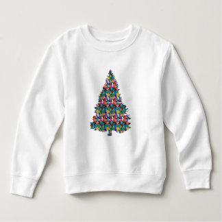 Sweatshirt Arbre de Noël clouté par GEMME :  Joyeux Noël