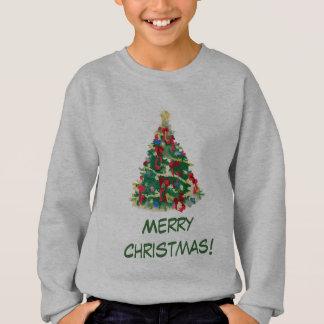 Sweatshirt Arbre de Noël coloré : Art de vecteur :