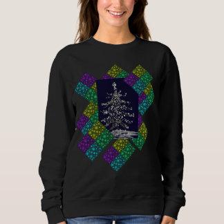 Sweatshirt Arbre et flocons de neige de Noël