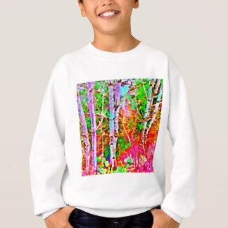 Sweatshirt Arbres de bouleau dans le printemps