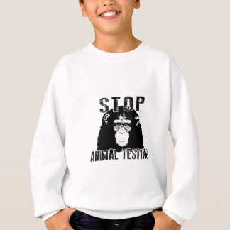 Sweatshirt Arrêtez l'expérimentation animale - chimpanzé