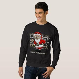 Sweatshirt Arrière - plan beige/blanc de Père Noël moqueur