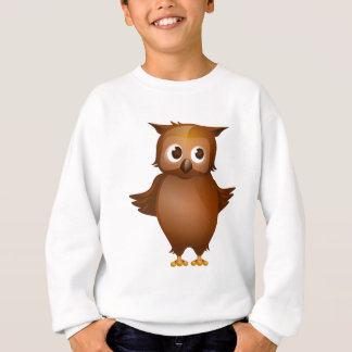 Sweatshirt Arrière - plan Editable - hibou mignon de Brown