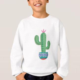 Sweatshirt art de conception de fleur de plante de cactus