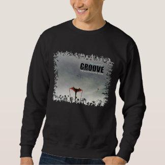 Sweatshirt Art de couverture arrière de cannelure de transe