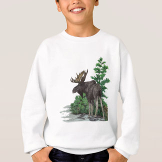 Sweatshirt Art d'orignaux de Taureau