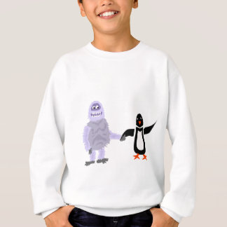 Sweatshirt Art drôle d'amour de bonhomme de neige abominable