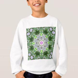 Sweatshirt Art pourpre 8 de kaléidoscope de fleur sauvage