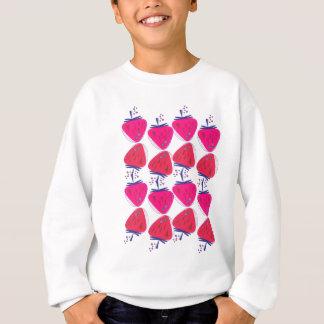 Sweatshirt Baies roses de conception sur le blanc