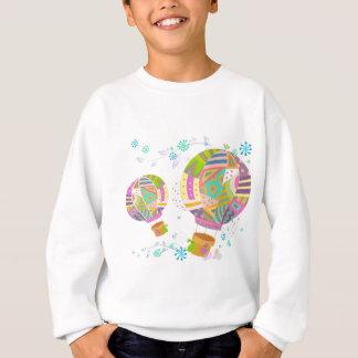 Sweatshirt Ballon coloré heureux d'air chaud