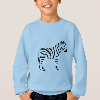 Sweatshirt Bande dessinée d'animaux de zèbres de zèbre