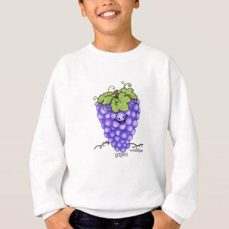 Sweatshirt Bande dessinée de fruit - raisins