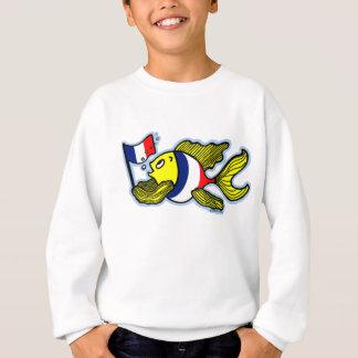 Sweatshirt Bande dessinée drôle de poissons français de