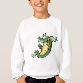 Sweatshirt Bande dessinée mignonne d'alligator