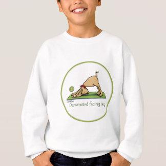 Sweatshirt Bande dessinée orientée vers le bas de chien