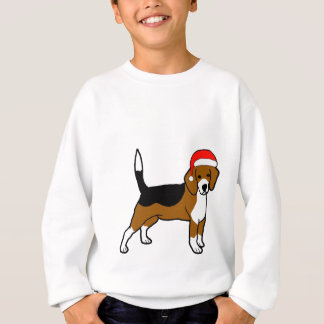 Sweatshirt Beagle avec le casquette de Père Noël
