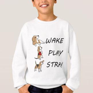 Sweatshirt BÊTE PERDUE de JEU de SILLAGE de beagle de chien