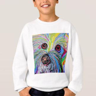 Sweatshirt Bichon dans des tons bleus