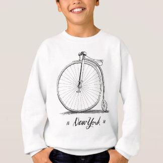 Sweatshirt Bicyclette de cru de gravure sur bois