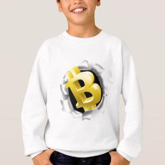 Sweatshirt Bitcoin cassant le concept de mur d'arrière - plan