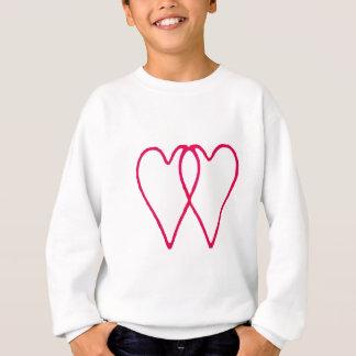 Sweatshirt Blanc de 2 coeurs ensemble les cadeaux de Zazzle