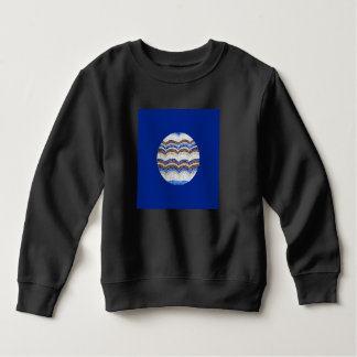 Sweatshirt bleu rond d'enfant en bas âge de