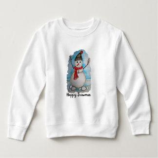 Sweatshirt Bonhomme de neige magnifique d'aquarelle avec