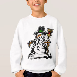 Sweatshirt Bonhomme de neige mignon de vacances
