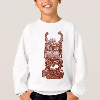 Sweatshirt Bouddha riant (rouge foncé)