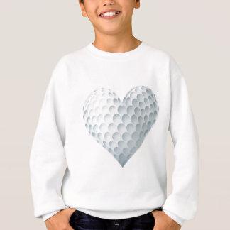Sweatshirt Boule de golf dans une forme de coeur